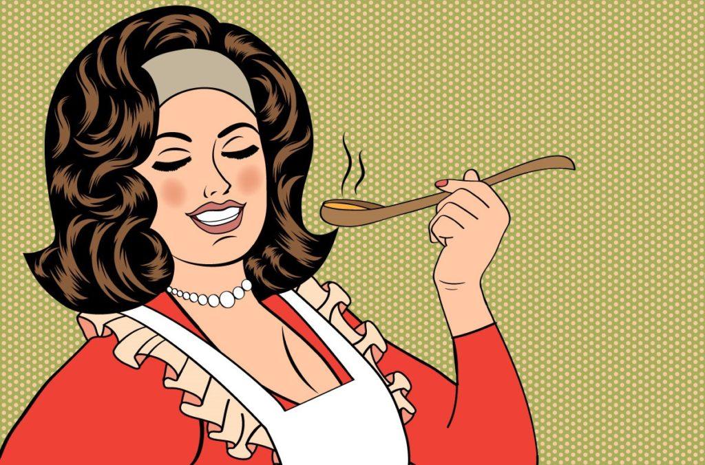 ilustrasi istri masak