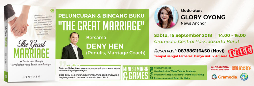 peluncuran dan bincang buku the great marriage