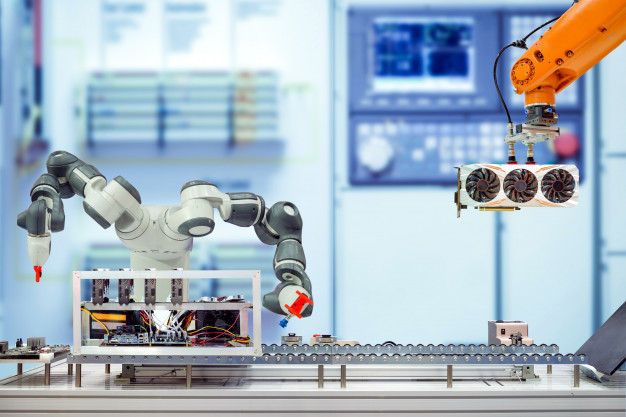 Manusia digantikan oleh robot
