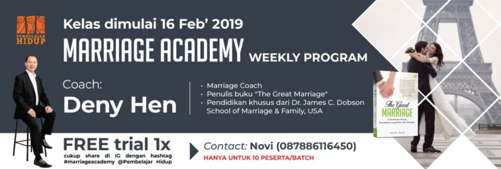 marriage academy weekly program