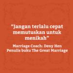 marriage insight 5 jangan terlalu cepat memutuskan menikah