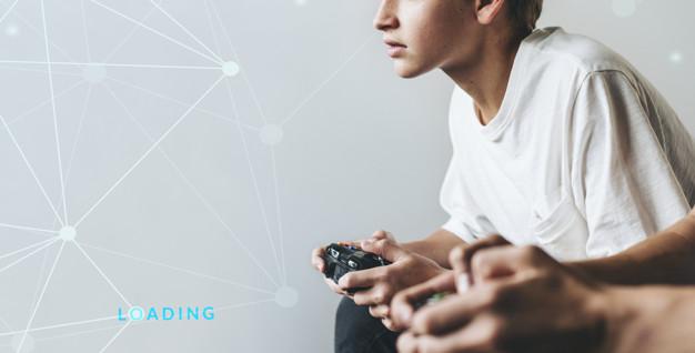 Remaja bermain video game