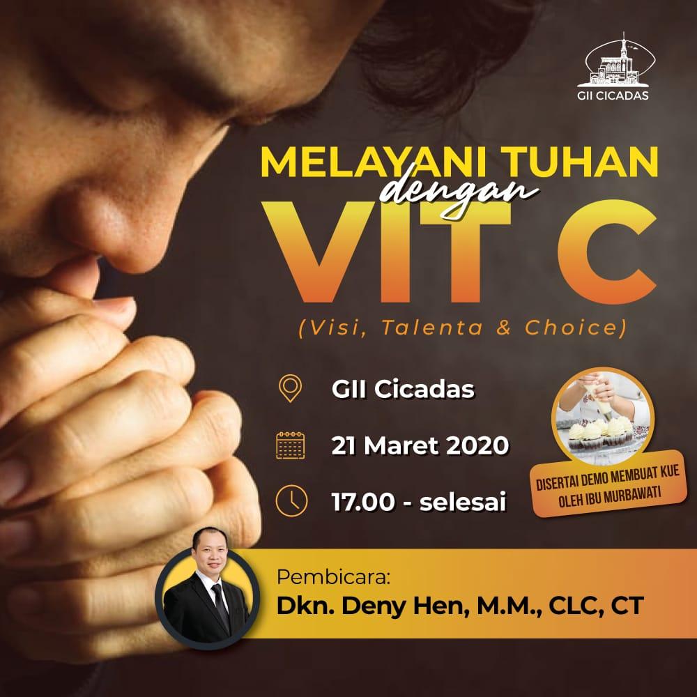 Seminar Melayani Tuhan dengan Vit C yang dipending karena wabah corona